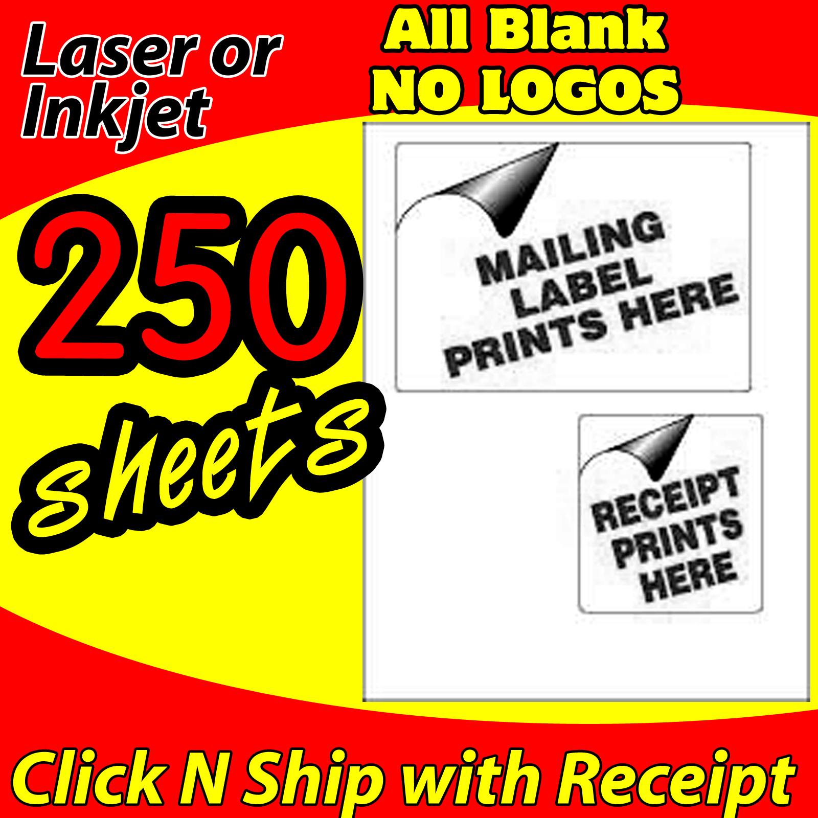 250 USPS CLICK-N-SHIP - PAYPAL - EBAY - SHIPPING LABELS