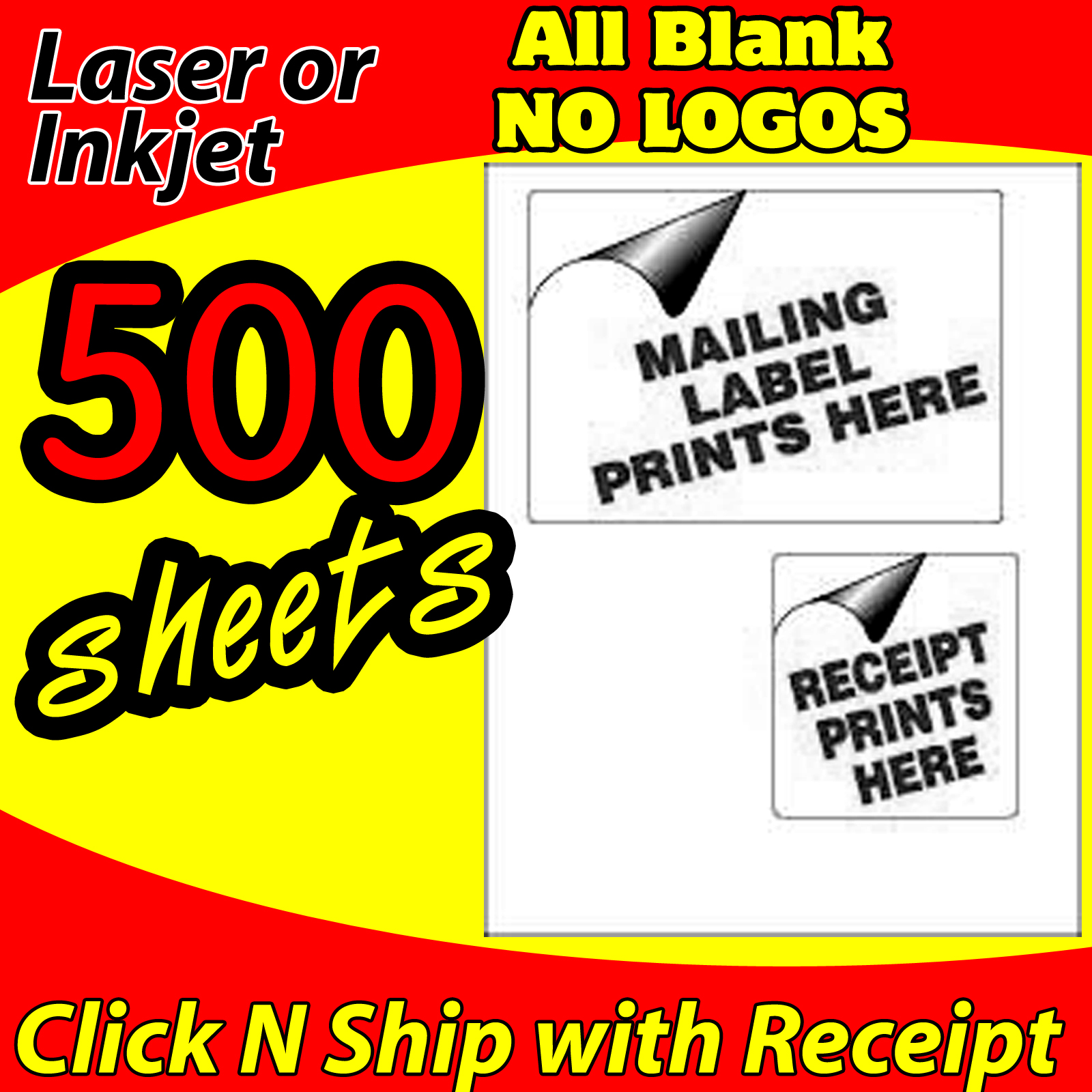 500 USPS CLICK-N-SHIP - PAYPAL - EBAY - SHIPPING LABELS