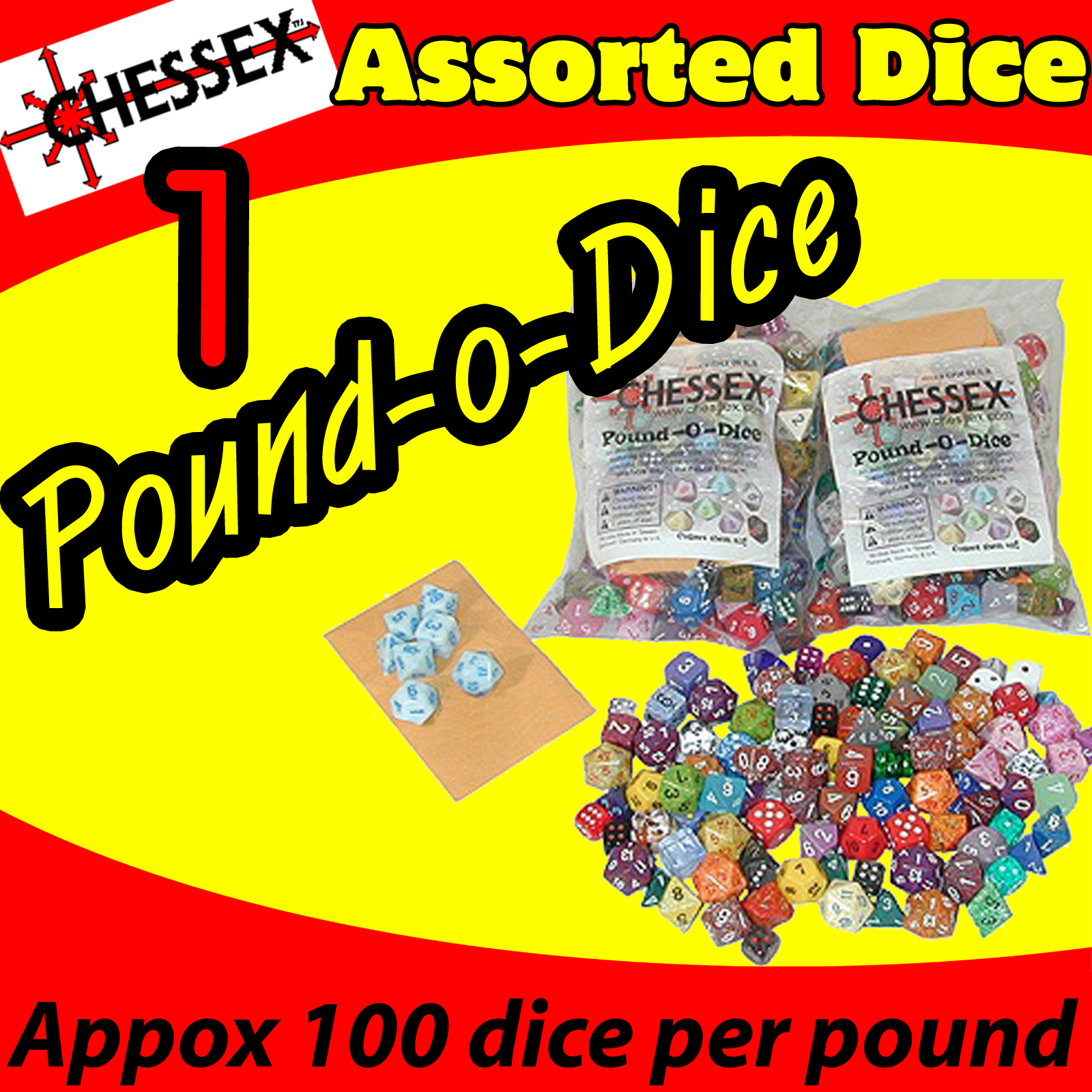 Chessex Pound O Dice (1lb) USA SHIPPING