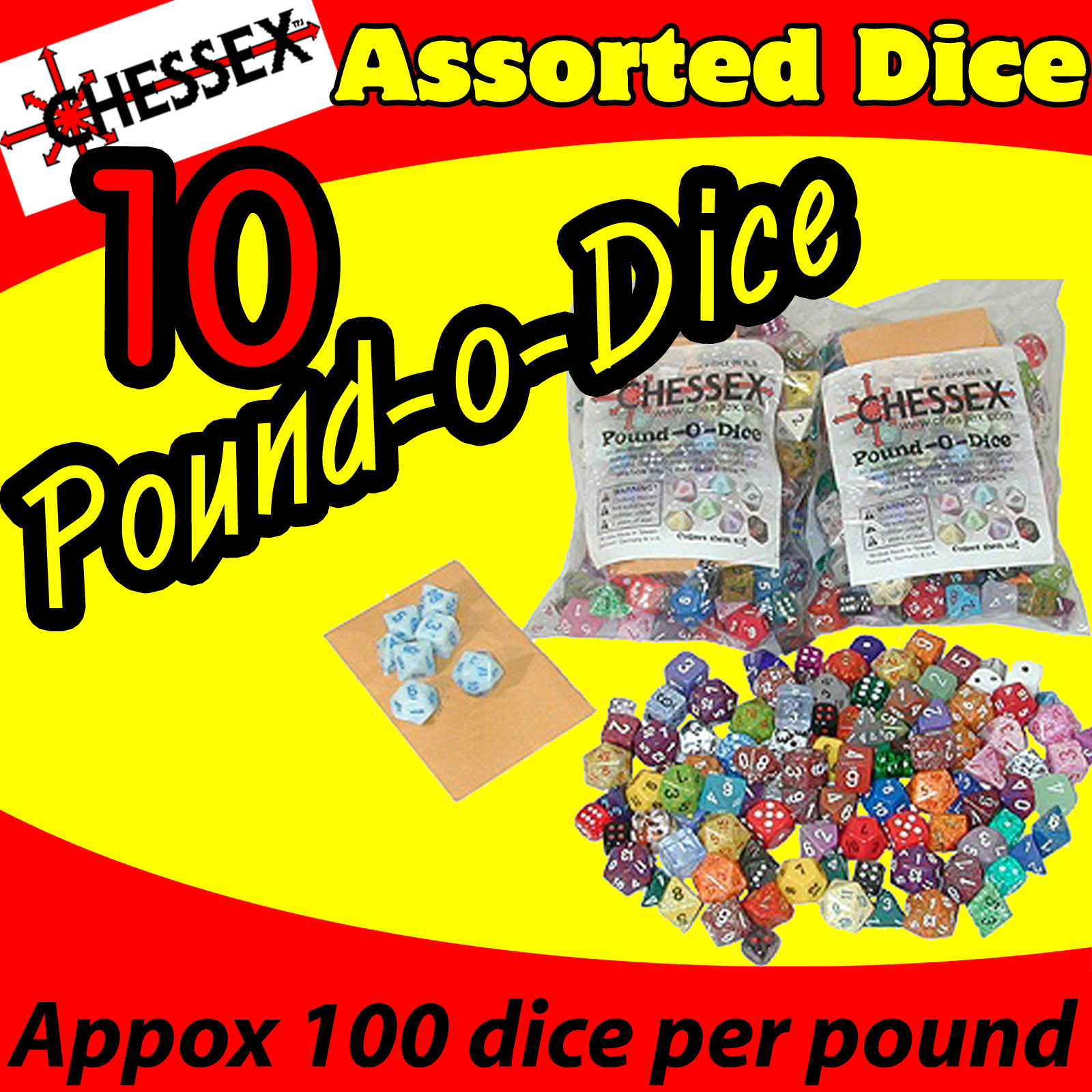 Chessex Pound O Dice (10 lbs) USA SHIPPING
