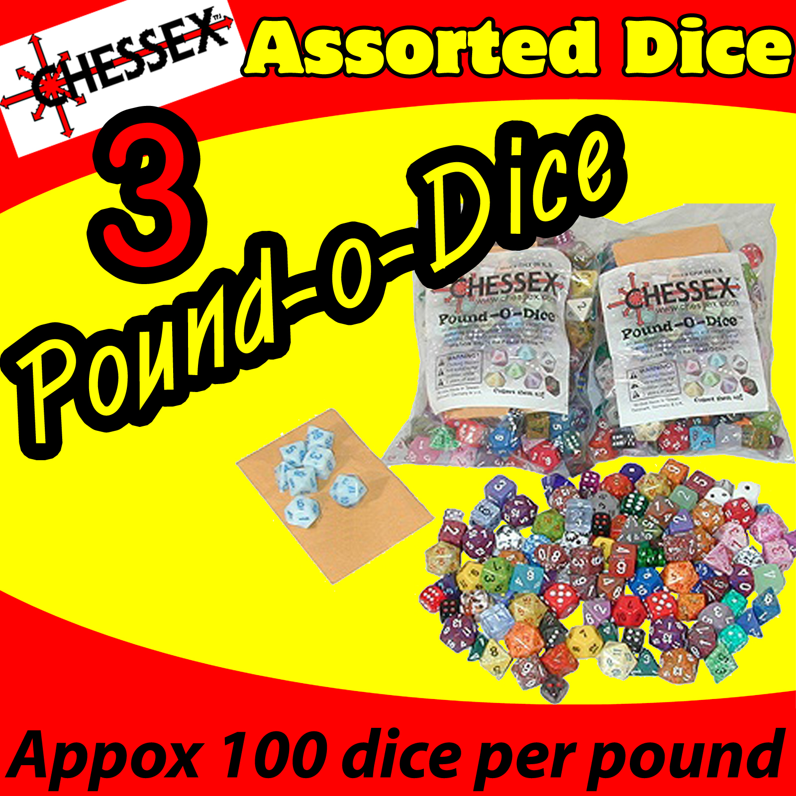 Chessex Pound O Dice (3 lbs) USA SHIPPING - Click Image to Close