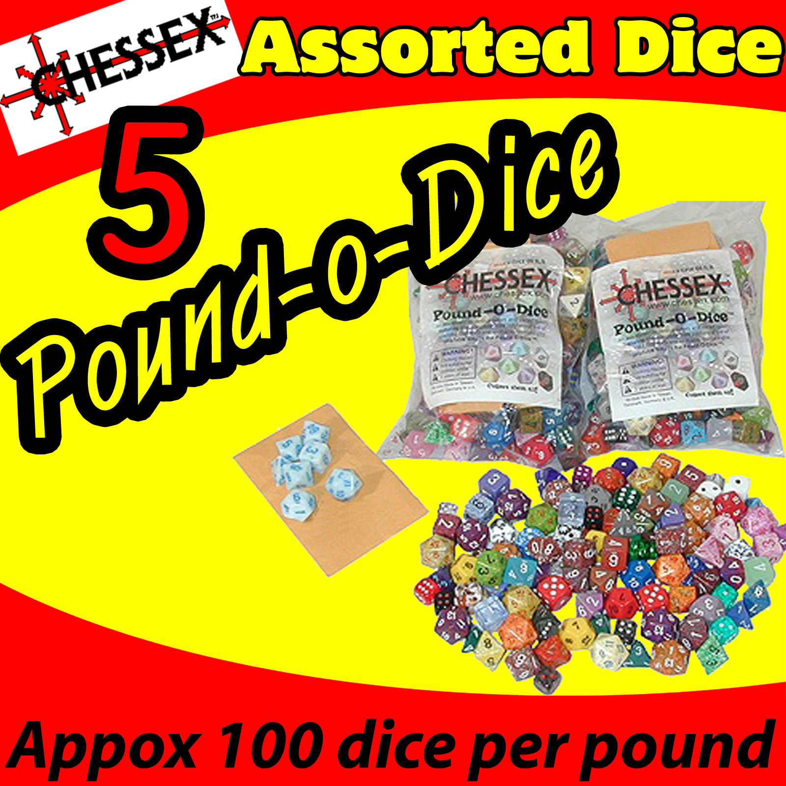 Chessex Pound O Dice (5 lbs) USA SHIPPING