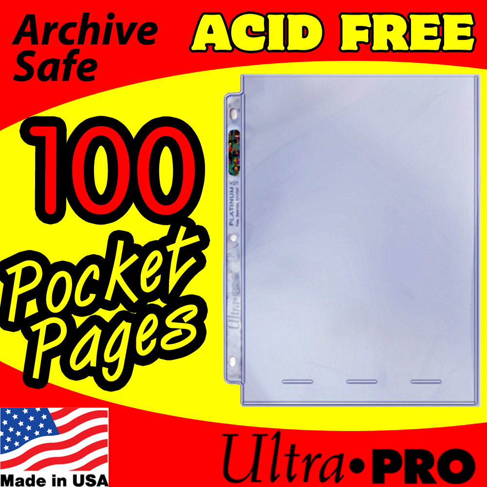 Ultra Pro 1-Pocket 8x10 Pages -100-