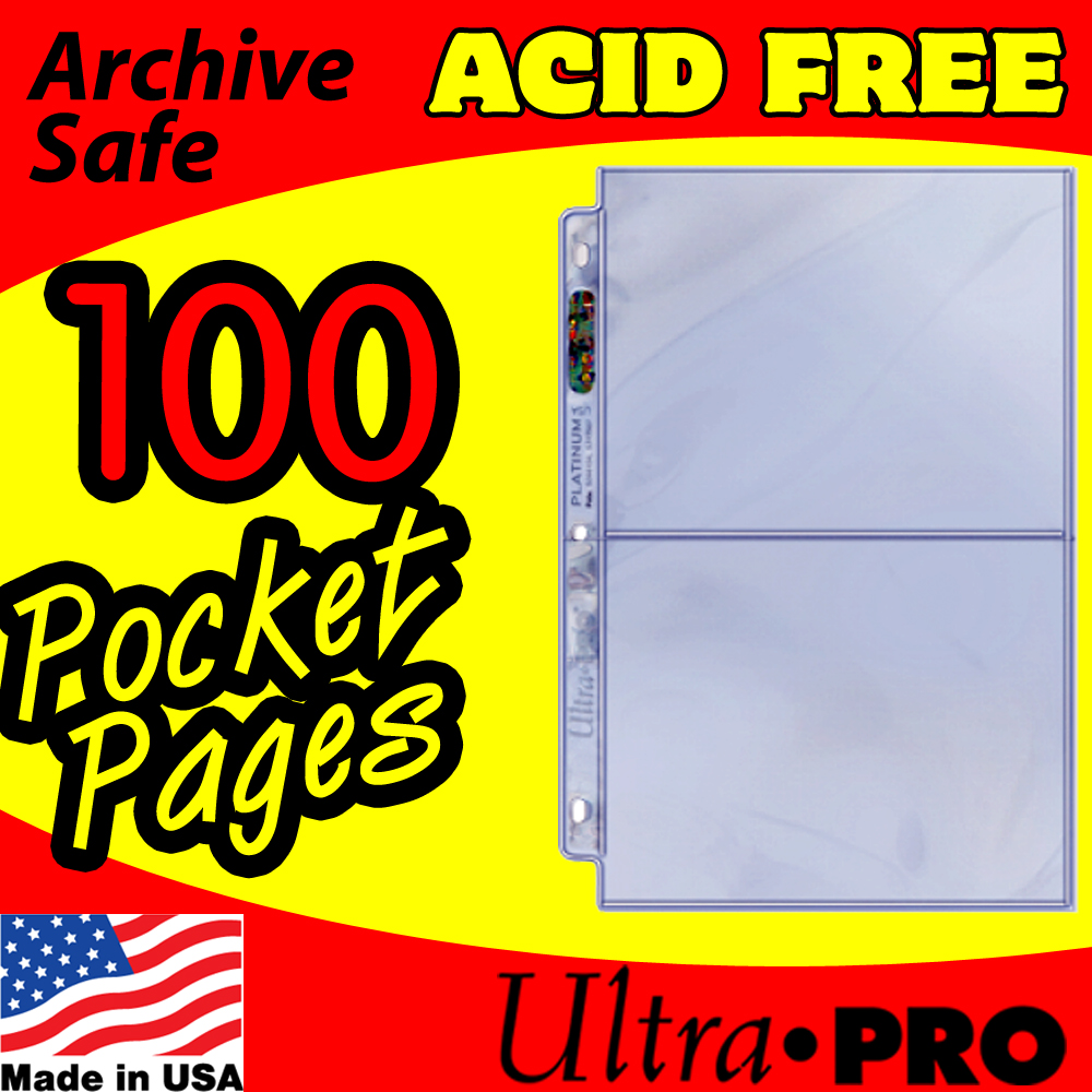 Ultra Pro 2-Pocket Platinum Pages -100-