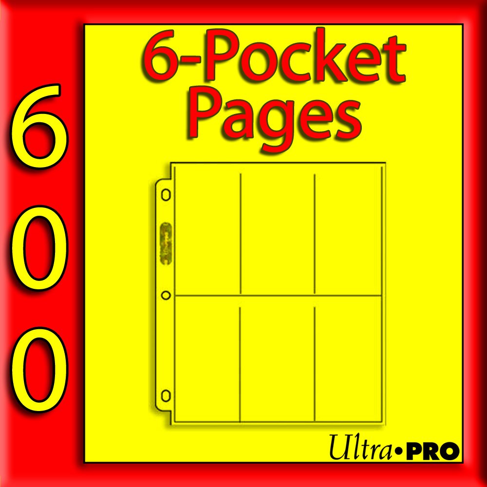 Ultra Pro 6-Pocket PLATINUM Pages -600- UNITED STATES ONLY