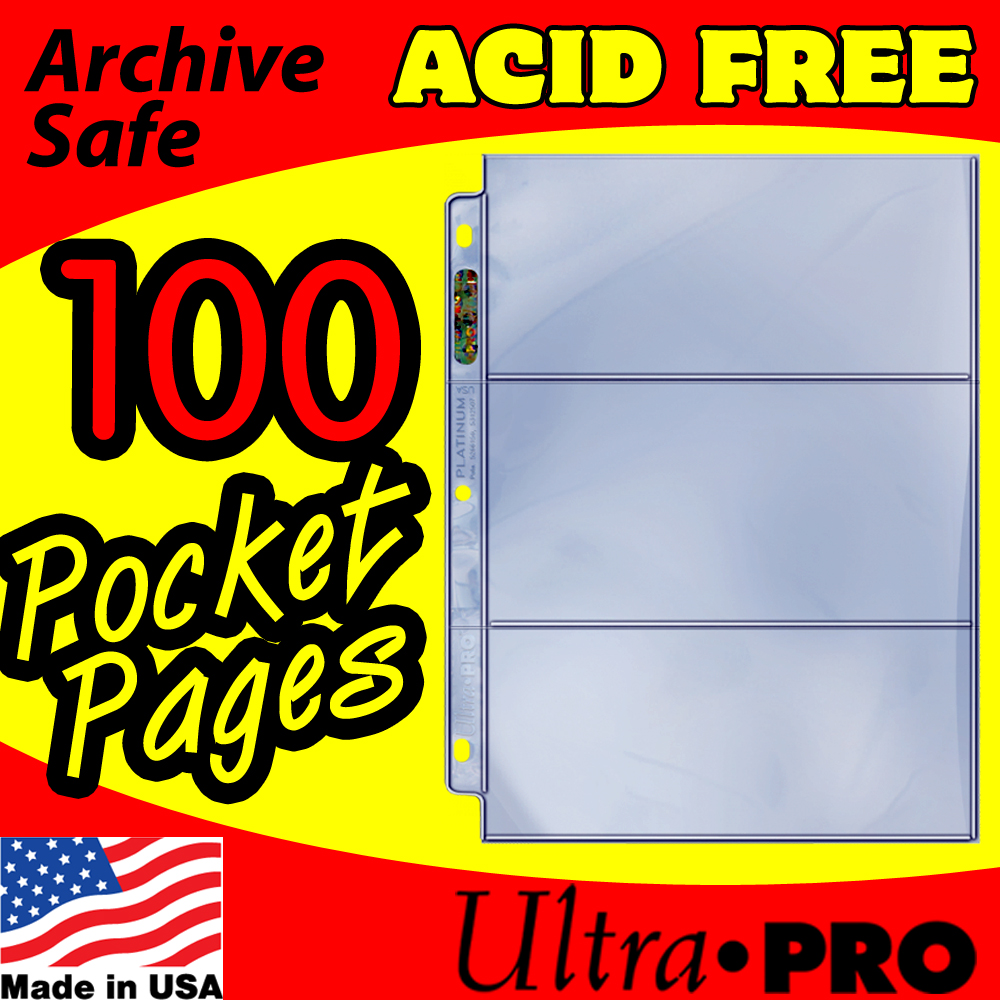 Ultra Pro 3-Pocket Currency Pages -100-