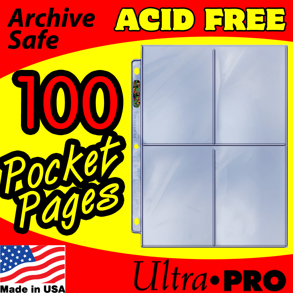 Ultra Pro 4-Pocket Platinum Pages -100-