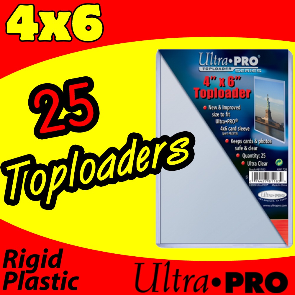 Ultra Pro 4x6 Toploads -25- USA ONLY