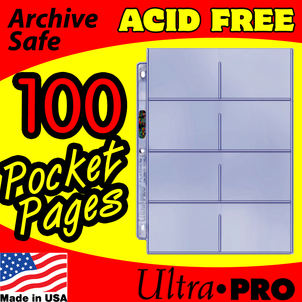 Ultra Pro 8-Pocket Platinum Pages -100-