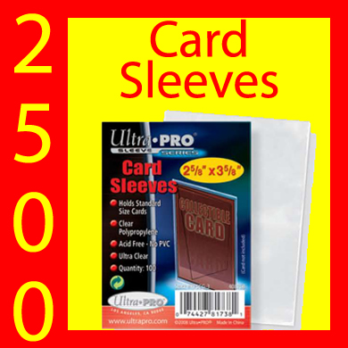 Ultra Pro Card Sleeves -2,500- USA ONLY