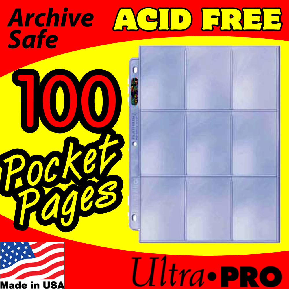 Ultra Pro 9-Pocket Platinum Pages -100-