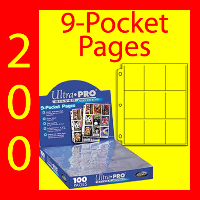 Ultra Pro 9-Pocket SILVER Pages -200- UNITED STATES ONLY