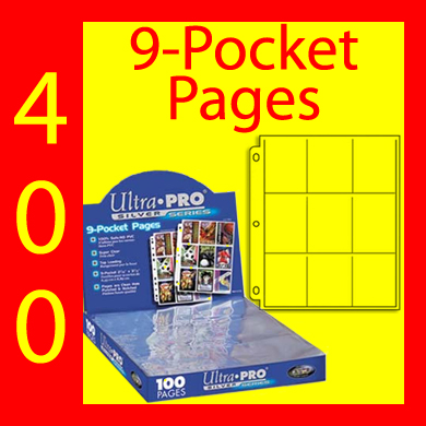 Ultra Pro 9-Pocket SILVER w/Boxes -400- UNITED STATES ONLY