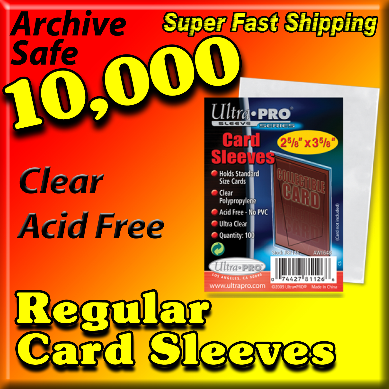 Ultra Pro Card Sleeves -10,000- USA ONLY