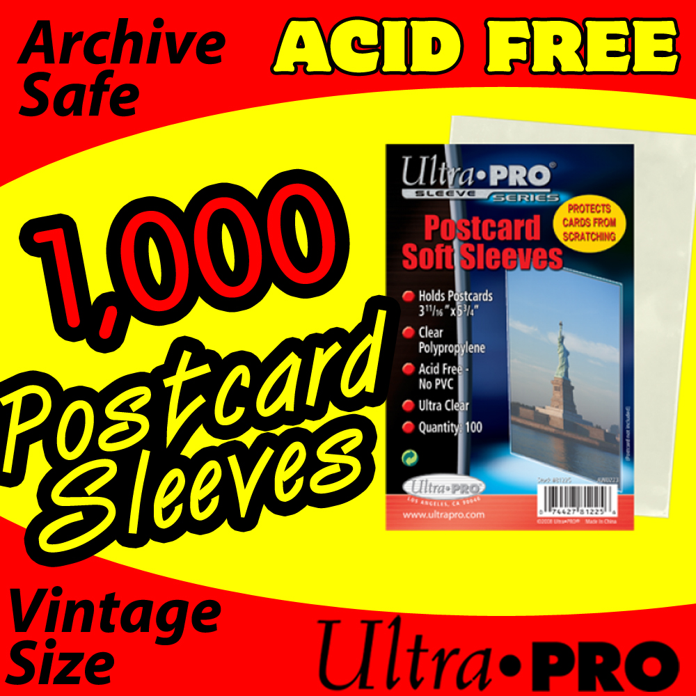 Ultra Pro Soft Postcard Sleeves -1000- INTERNATIONAL