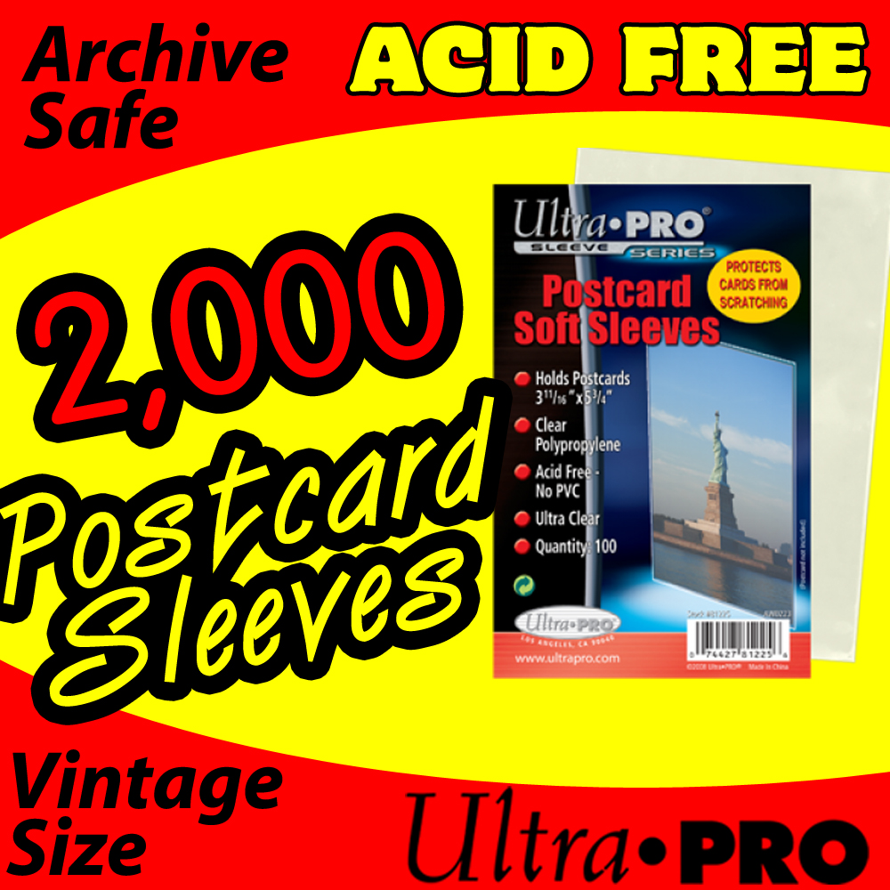 Ultra Pro Soft Postcard Sleeves -2000- USA ONLY