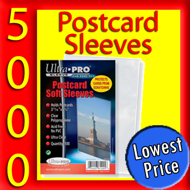 Ultra Pro Soft Postcard Sleeves -5000- INTERNATIONAL