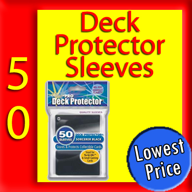 "Solid Mini Deck Protector Sleeves ""Sorcerer Black"" -50-"