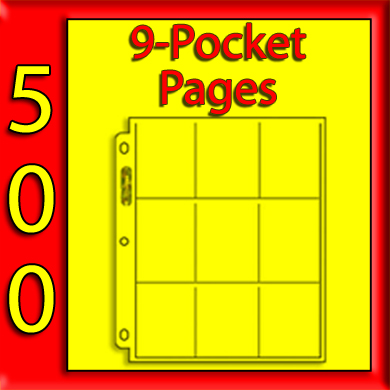 Ultra Pro 9-Pocket Platinum Pages -500- USA ONLY
